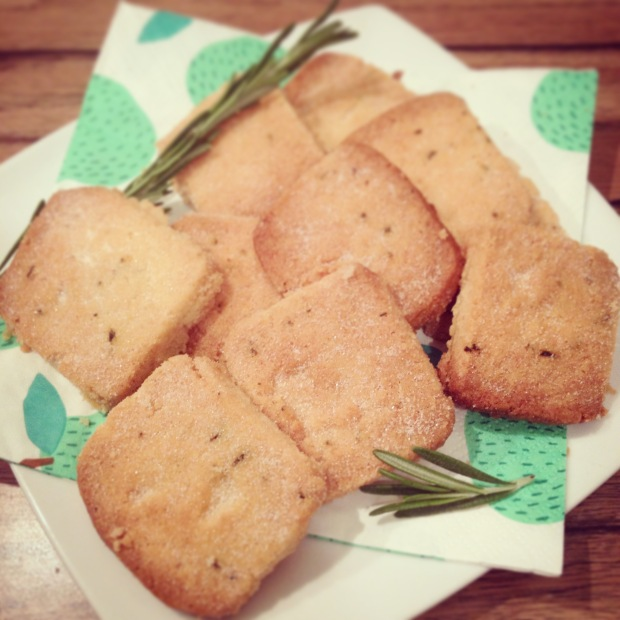 Rosemary and Olive Oil shortbread recipe