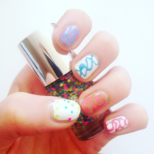 Pop tart inspired nail art in a variety of flavours