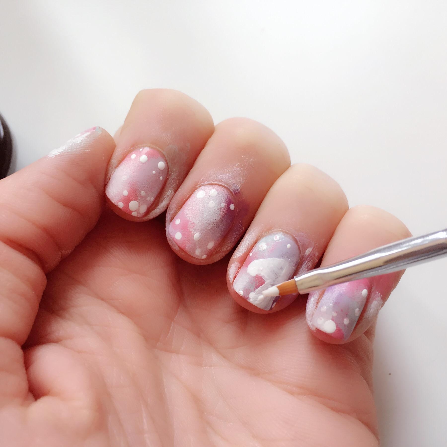 Unicorn Nail Art Colour And Glitter