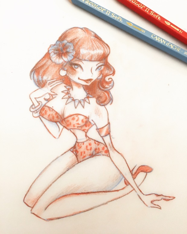 Pinup sketch