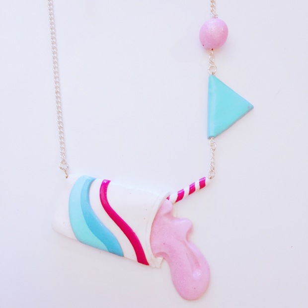 Milkshake Necklace made from Fimo